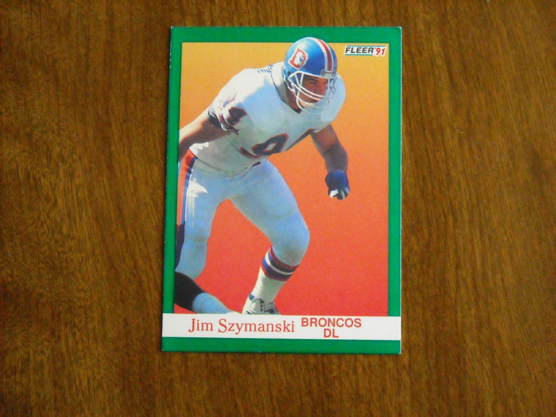 Jim Szymanski Denver Broncos  55 - 1991 Fleer Football Card e5eda25de