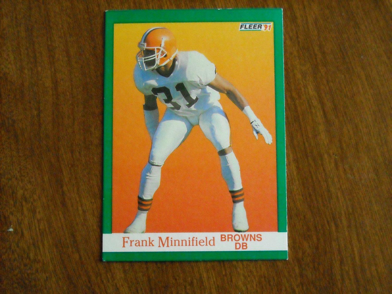 Frank Minnifield Browns  40 - 1991 Fleer Football Card 26f61d4f6