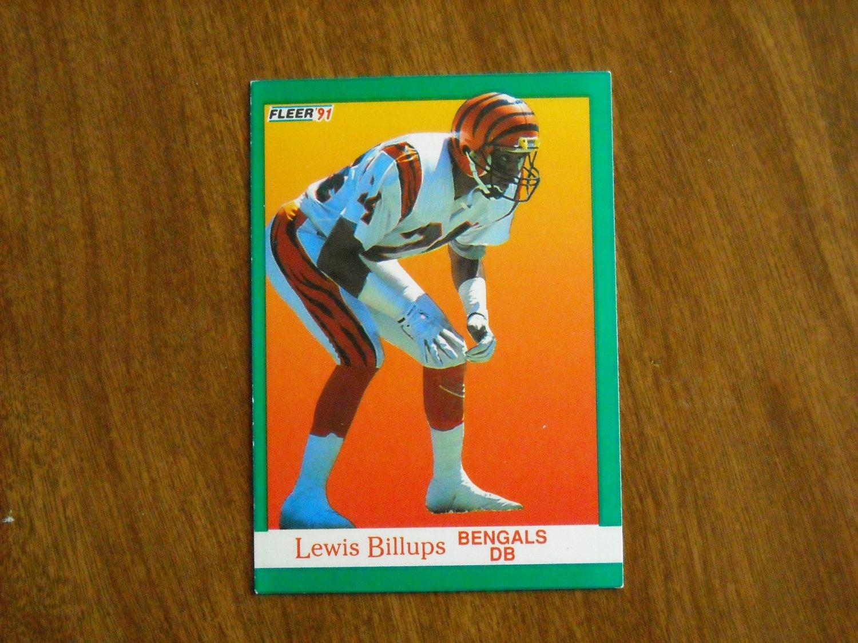 Lewis Billups Bengals  15 - 1991 Fleer Football Card 26e2a16cb