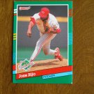 Jose Rijo Pitcher Cincinnati Reds 1990 World Series Card No. 742 - 1991 Donruss Baseball Card