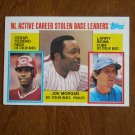 N.L. Active Career Stolen Base Leaders Card No. 705 Reds Phillies Cubs 1984 Topps Baseball