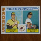 Batting & Pitching Leaders Padres Card No. 366 - 1984 Topps Baseball Card Kennedy Dravecky