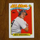 Mike Greenwell All Star American League Outfielder Card No. 402 - 1989 Topps Baseball Card