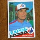 Jim Fanning Expos Manager Card No. 759 - 1985 Topps Baseball Card