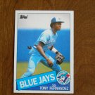 Tony Fernandez SS Toronto Blue Jays Card No. 48 - 1985 Topps Baseball Card