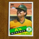 Jackie Moore A's Manager Oakland Athletics Card No. 38 (BC38) 1985 Topps Baseball Card