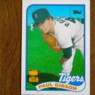 Paul Gibson Pitcher All Star Rookie Tigers Card No. 583 - 1989 Topps Baseball Card