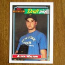 Allen Watson Major Leage Draft Pick Cardinals P Card No. 654 - Topps 1992 Baseball Card