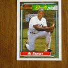 Al Shirley Major League Draft Pick New York Mets OF Card No. 306 - Topps 1992 Baseball Card