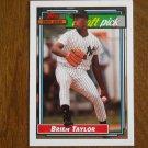 Brien Taylor Major League Draft Pick P New York Yankees Card No. 6 - Topps 1992 Baseball Card