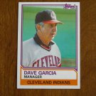 Dave Garcia Manager Cleveland Indians Card No. 546 - Topps 1983 Baseball Card