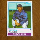 Lee Elia Manager Chicago Cubs Card No. 456 - Topps 1983 Baseball Card