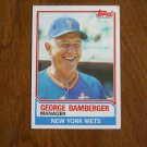 George Bamberger Manager New York Mets Card No. 246 - Topps 1983 Baseball Card