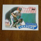 1988 New York Yankees Leaders Team Leaders Batting Pitching Card No 519 - 1989 Baseball Card