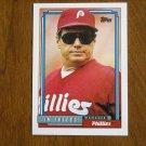 Jim Fregosi Phillies Manager Card No 669 - 1992 Topps Baseball Card