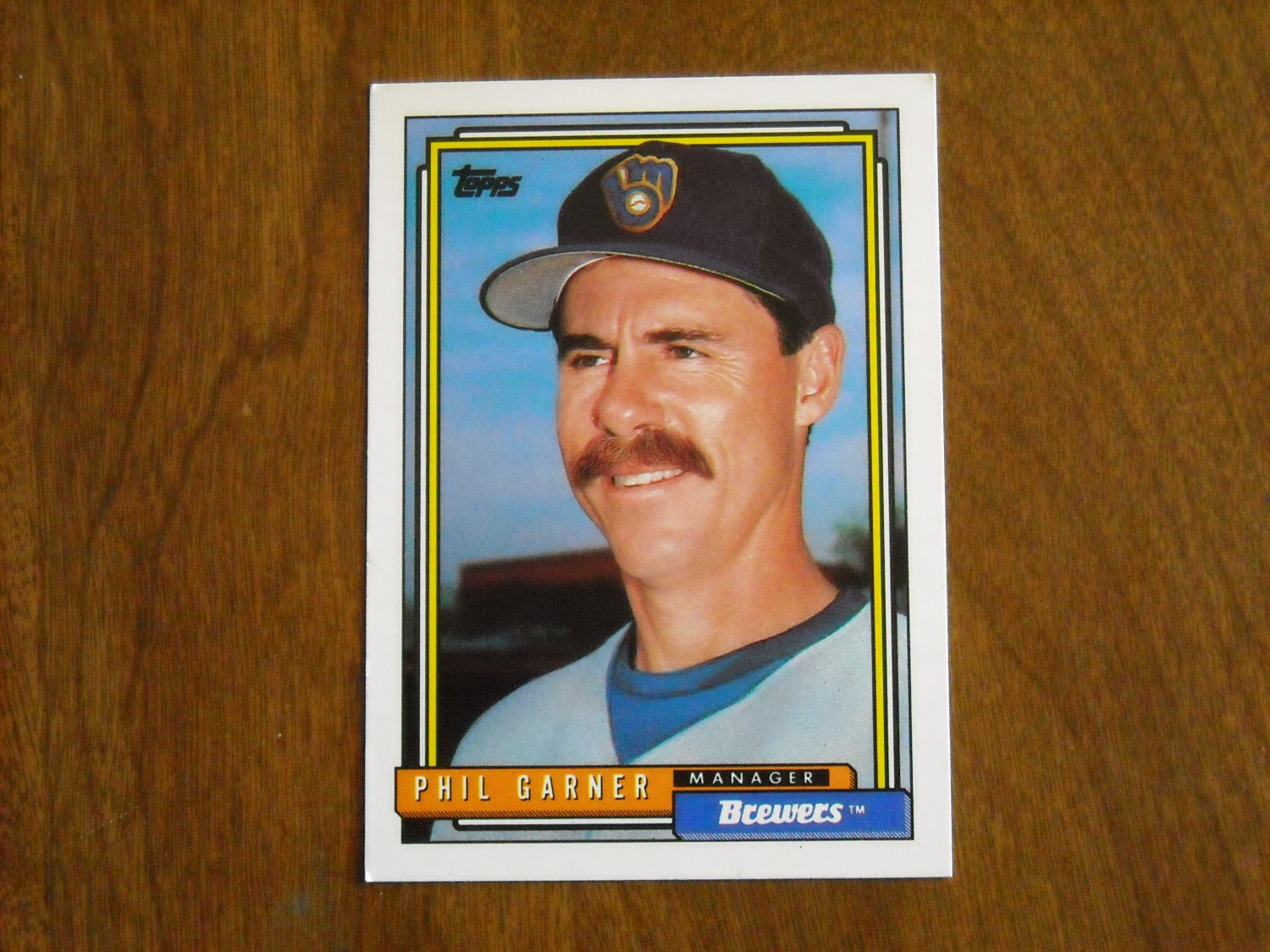 Phil Garner Milwaukee Brewers Manager 291 1992 Topps
