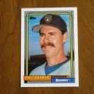 Phil Garner Brewers Manager Card No 291 - 1992 Topps Baseball Card