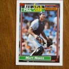 Matt Nokes All Star American League Catcher Card No 404 - 1992 Topps Baseball Card