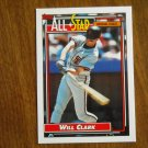 Will Clark All Star National League First Baseman Card No. 386 - 1992 Topps Baseball Card