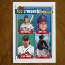 Top Prospects Card No 126 Brogna, Jaha, Klesko, Staton - 1992 Topps Baseball Card