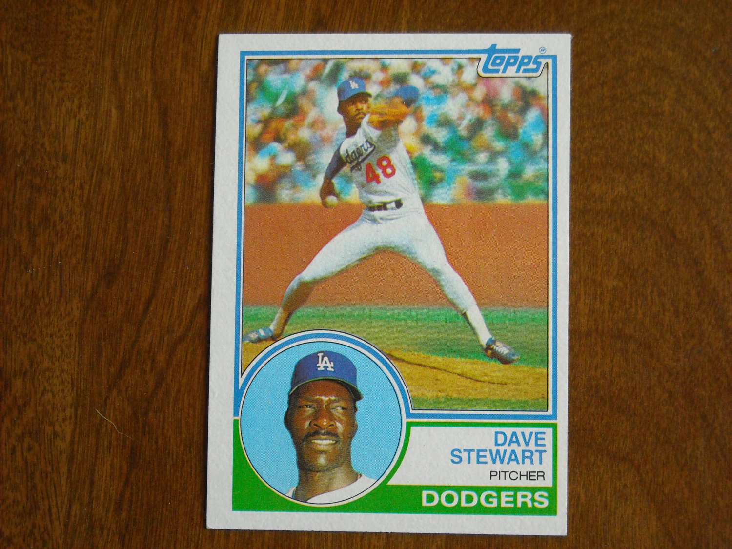Dave Stewart Los Angeles Dodgers 532 1983 Topps Chewing Gum