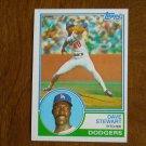 Dave Stewart Pitcher Dodgers Card No 532 (BC532) 1983 Topps Baseball Card