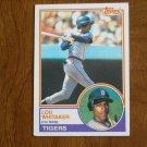 Lou Whitaker 2nd Base Tigers Card No 509 - 1983 Topps Baseball Card