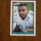 Jeff Cross Miami Dolphins DE Card No 116 - 1991 Topps Football Card