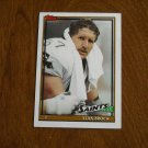 Stan Brock New Orleans Saints T Card No 328 - 1991 Topps Football Card