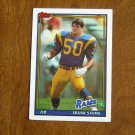Frank Stams Los Angeles Rams ILB Card No. 544 - 1991 Topps Football Card