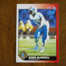 Bubba McDowell Houston Oilers Strong Safety Card No. 198 - 1991 Score Football Card