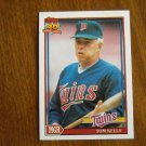 Tom Kelly Manager Minnesota Twins Card No. 201 - 1991 Topps Baseball Card