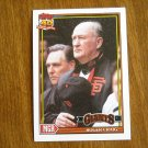 Roger Craig San Francisco Giants Manager Card No. 579 - 1991 Topps Baseball Card