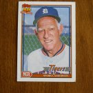 Sparky Anderson Tigers Manager Card No 519 - 1991 Topps Baseball Card