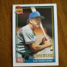 Tom Trebelhorn Milwaukee Brewers Manager Card No 459 - 1991 Topps Baseball Card