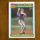 John Franco All Star National League Pitcher New York Mets Card No 407 - 1991 Topps Baseball Card