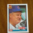 Don Zimmer Chicago Cubs Manager Card No 729 - 1991 Topps Baseball Card