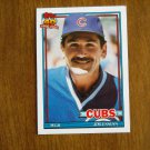 Jim Essian Chicago Cubs Manager Card No 36T - 1991 Topps Baseball Card