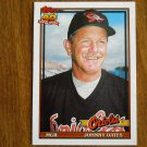 Johnny Oates Baltimore Orioles Manager Card No 85T - 1991 Topps Baseball Card