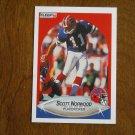Scott Norwood Buffalo Bills Placekicker Card No. 114 - 1990 Fleer Football Card
