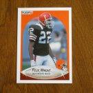 Felix Wright Cleveland Browns Defensive Back Card No. 60 - 1990 Fleer Football Card