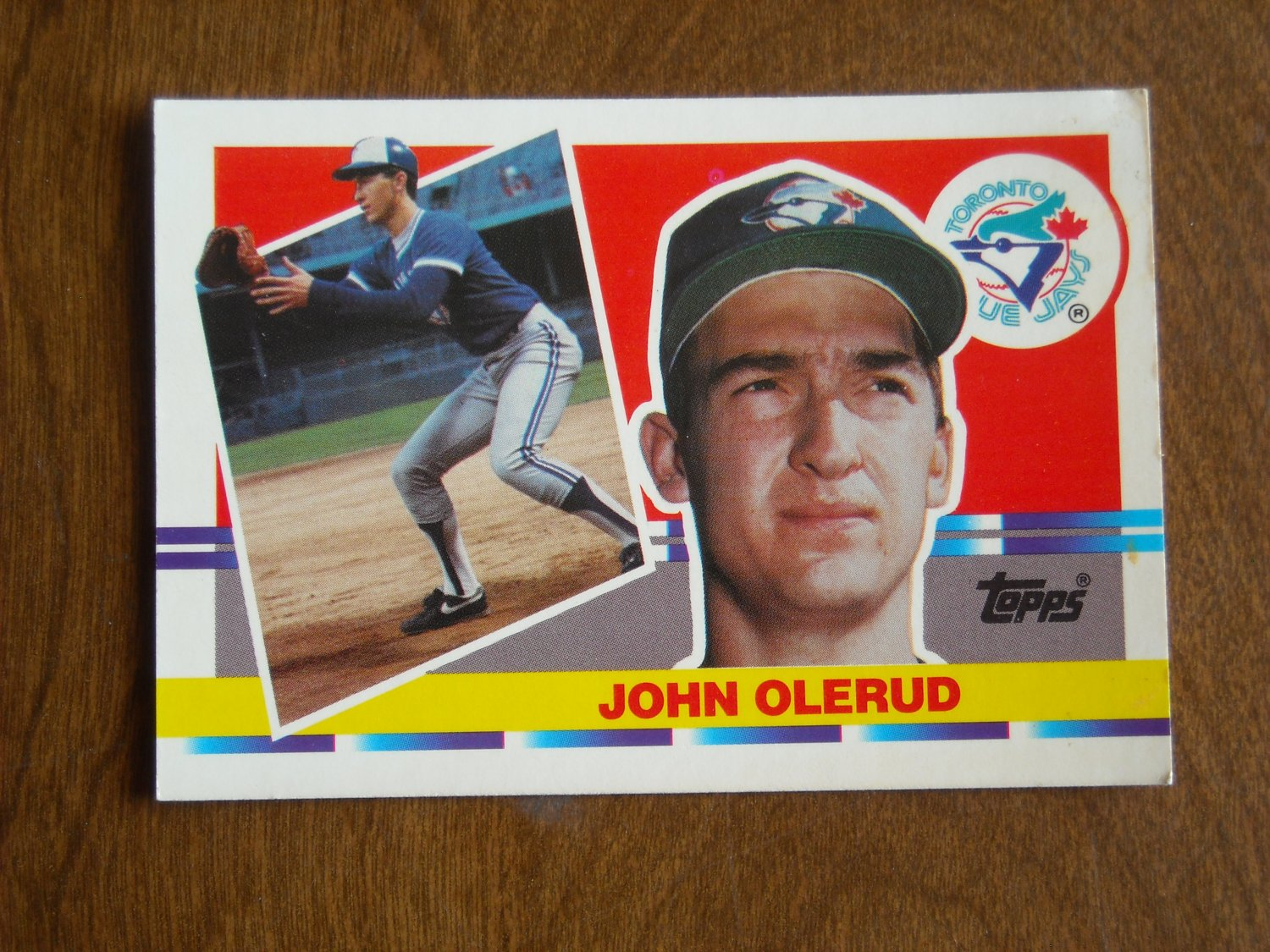 John Olerud Toronto Blue Jays dh-1b Card No 199 - 1990 Topps Baseball Card