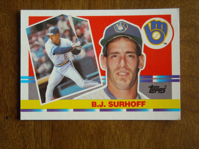 B. J. Surhoff Milwaukee Brewers c-3b Card No 198 - 1990 Topps Baseball Card