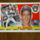 B. J. Surhoff Milwaukee Brewers c-3b Card No 198 - 1990 Topps Baseball Card