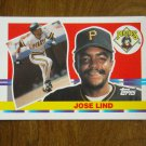Jose Lind Pittsburgh Pirates Second Base Card No 196 - 1990 Topps Baseball Card
