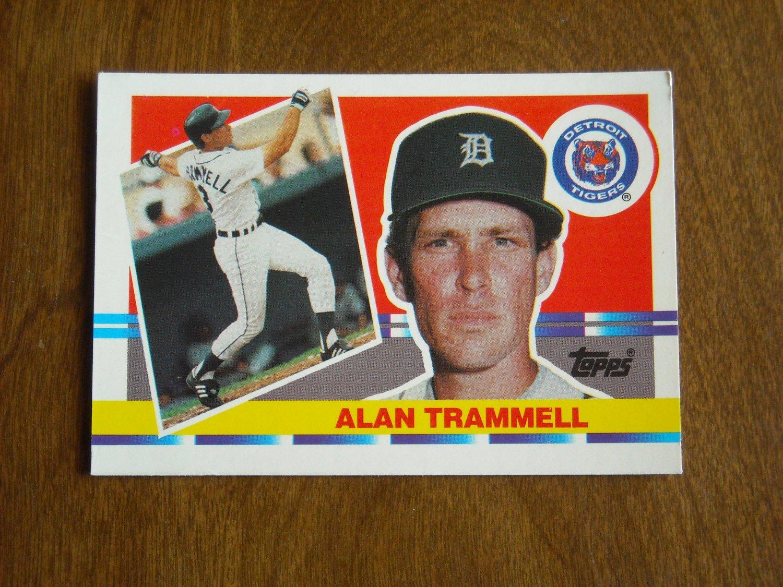 Alan Trammell Detroit Tigers 190 1990 Topps Big Baseball Card