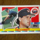Ken Caminiti Houston Astros Third Base Card No 170 - 1990 Topps Baseball Card
