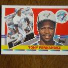 Tony Fernandez Toronto Blue Jays Shortstop Card No. 165 - 1990 Topps Baseball Card