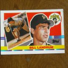 Bill Landrum Pittsburgh Pirates Pitcher Card No. 164 (BC164) 1990 Topps Baseball Card