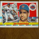 Sid Fernandez New York Mets Pitcher Card No. 155 - 1990 Topps Baseball Card
